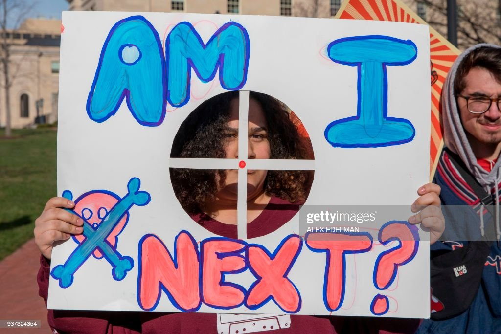 US-SCHOOL-SHOOTING-PROTEST-POLITICS : News Photo