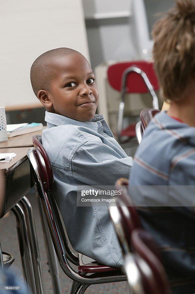 Student in classroom : Stockfoto