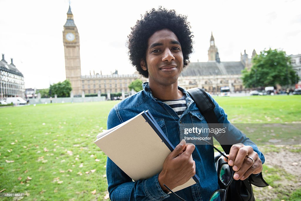 Student in London : Stock Photo