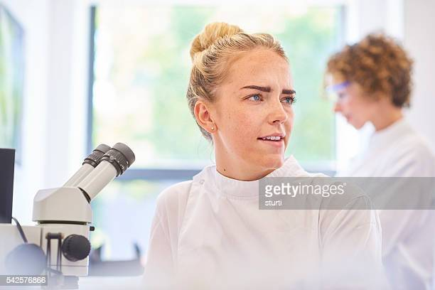 student in the science lab