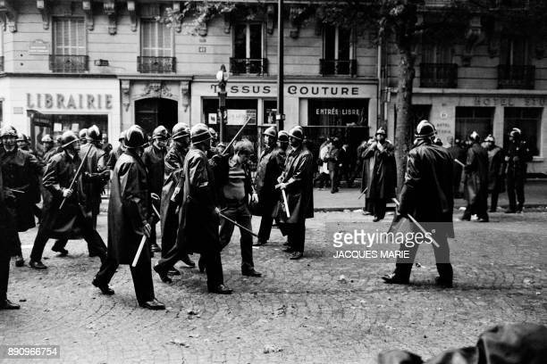 Student is arrested by the police on the boulevard Saint Germain on May 6 1968, during the May-June 1968 events in France. From 6 to 13 May 1968...