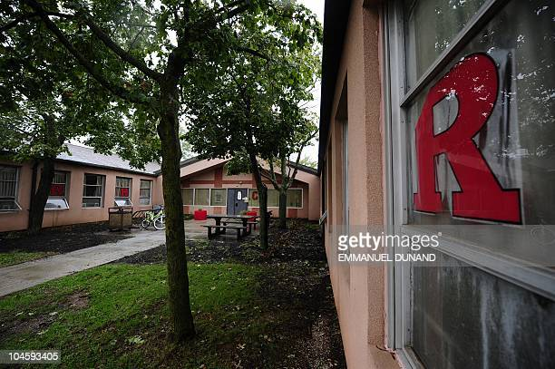 Student leaves the dormitory at Rutgers Univeristy in New Brunswick, New Jersey on October 01, 2010 where first-year student Tyler Clementi lived and...