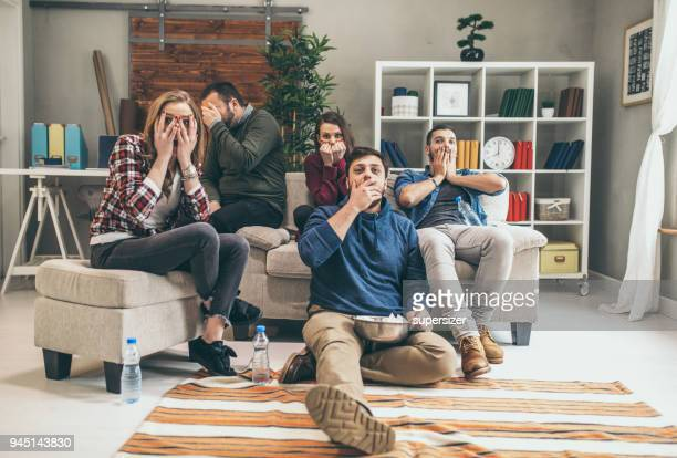 student life - scary movie stock photos and pictures