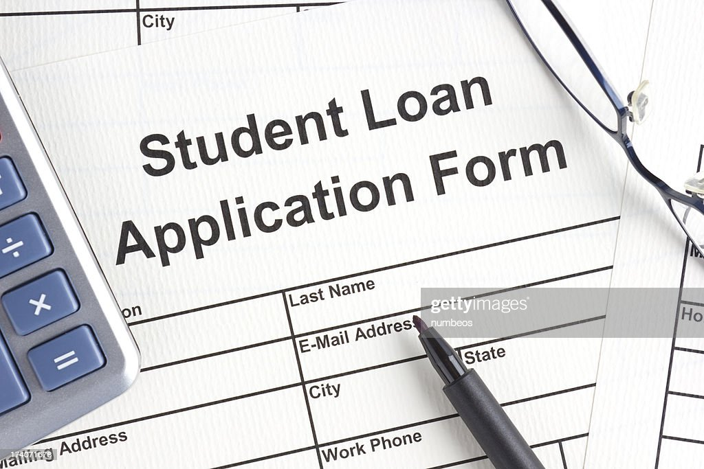 Student Loan Application Form : Stock Photo