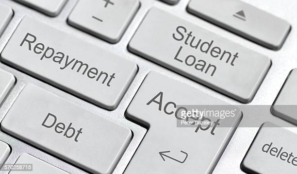 Student loan computer keyboard