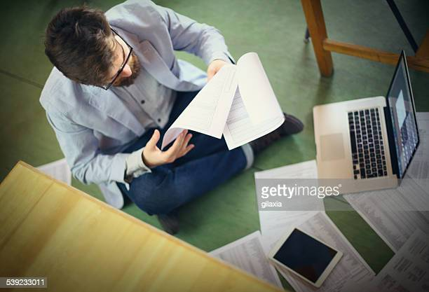 Student looking for certain document.