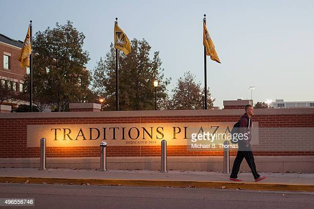 A student makes his way across the campus of University of Missouri Columbia on November 10 2015 in Columbia Missouri The university looks to get...