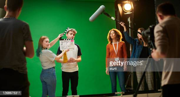 student media producton - medium group of people stock pictures, royalty-free photos & images