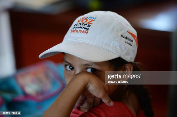 A student of the Francisco Calderon Bucardo school wears a cap of the World Vision humanitarian aid organization in Tranqueras Nicaragua 02 December...