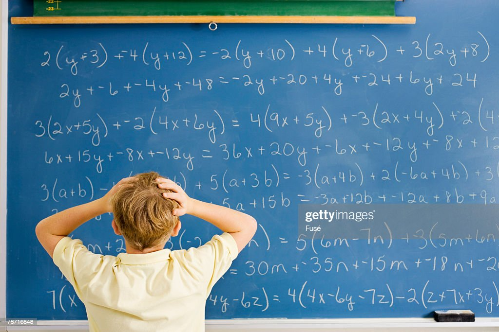 Student Overwhelmed By Math Problem Stock Photo | Getty Images
