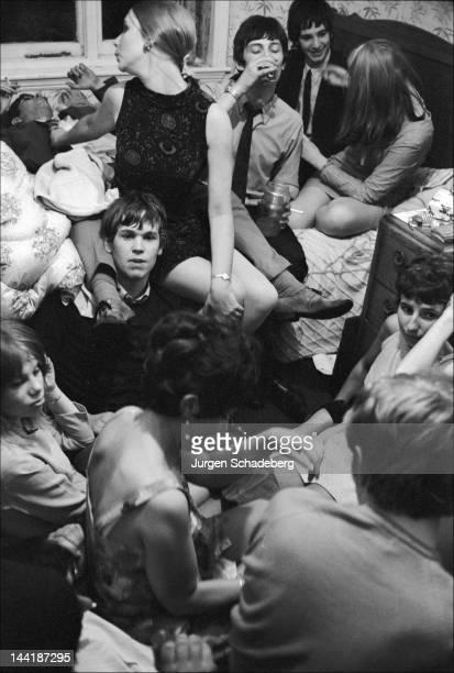 A student party at Birmingham University UK 1972