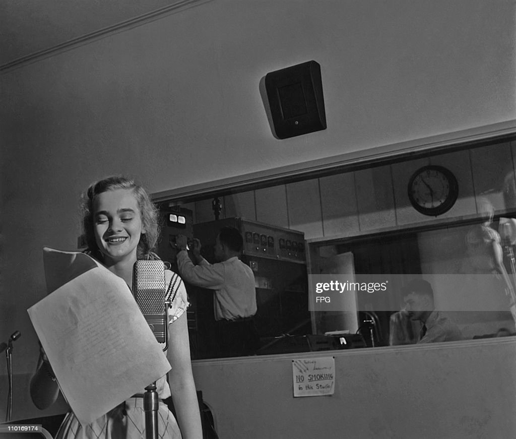 A student presenter on air at the Fordham University radio