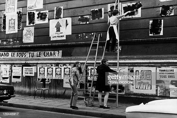 Student Propaganda In The Latin Quarter In Paris France In May 1968