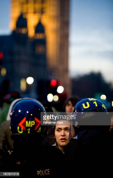 CONTENT] Student Protests Westminster Central London England