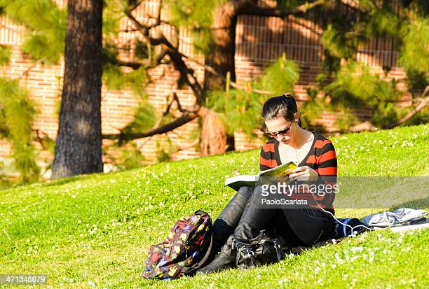 Student Reading on UCLA Campus