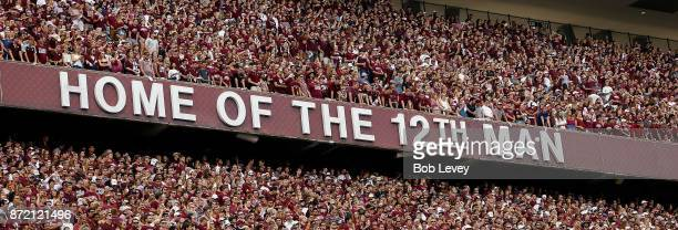 Student section at Kyle Field on November 4 2017 in College Station Texas