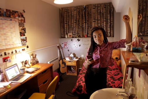 Student stood in bedroom - gettyimageskorea