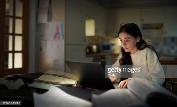 student studying at home - sturti stock pictures, royalty-free photos & images