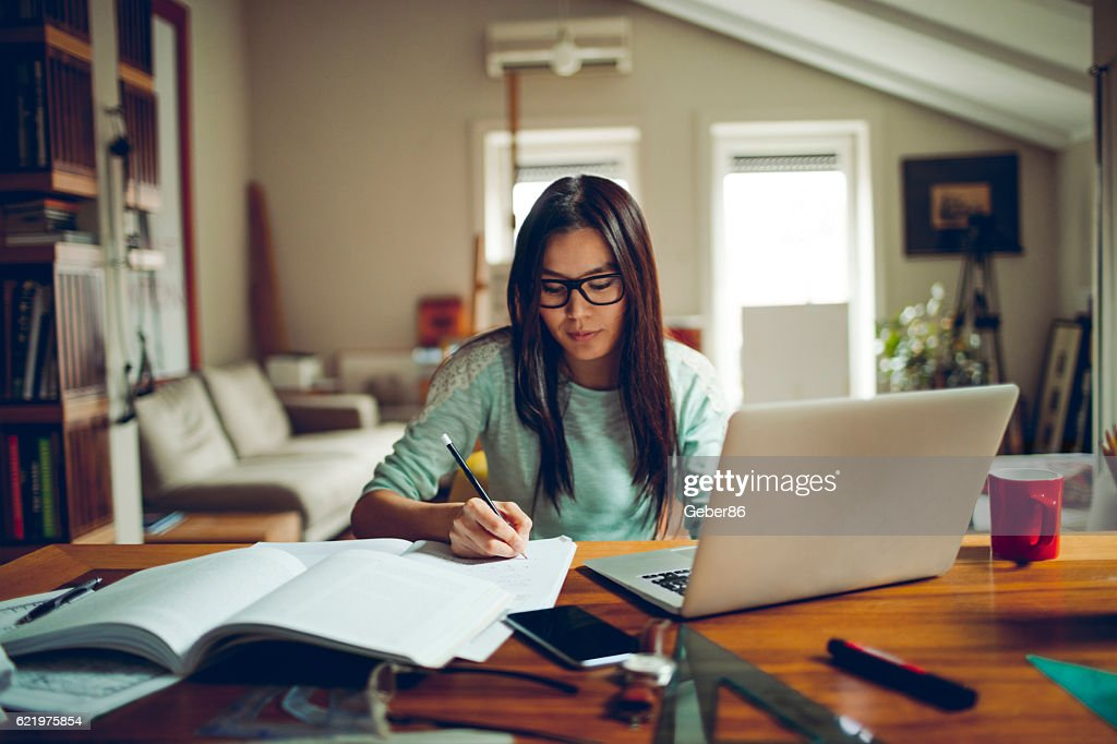 Student studying : Stock Photo