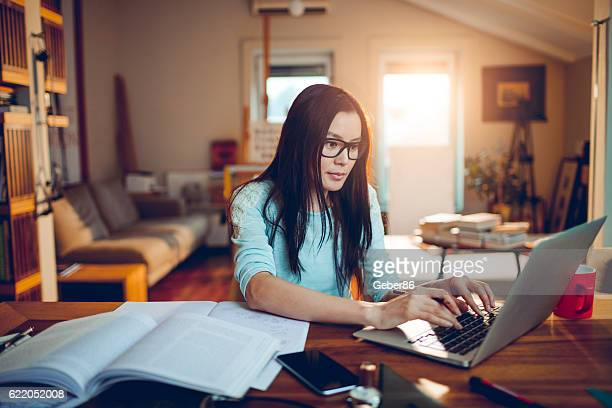 student studying - distance learning stock pictures, royalty-free photos & images