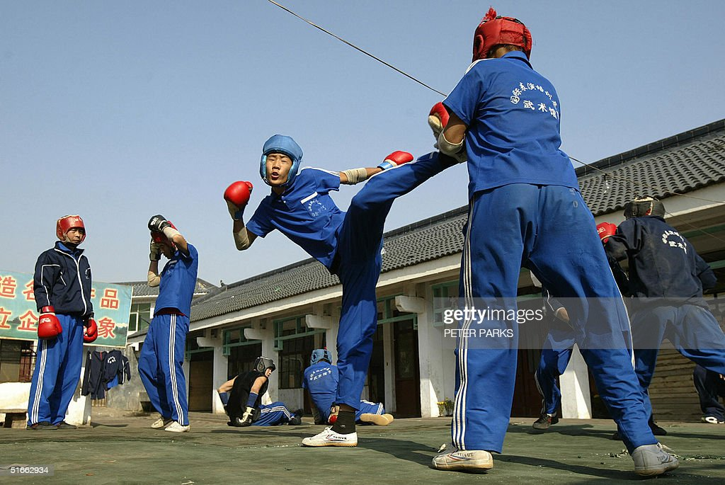 A student training in the art of Xingyi : News Photo