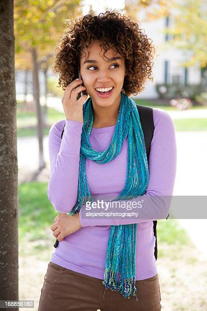 Student using a smart phone