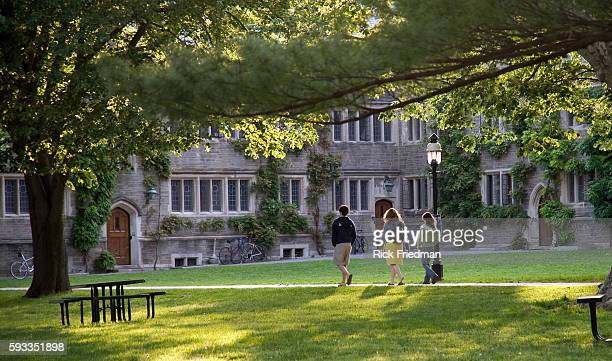Student walk along the campus of Princeton University in Princeton, New Jersey.