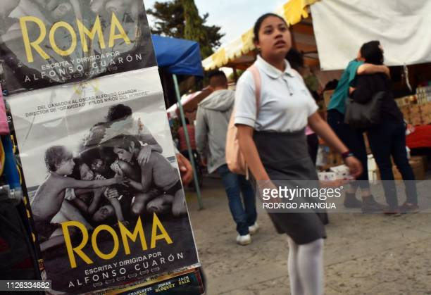 Student walks in Tlaxiaco, Oaxaca State -hometown to Mexican actress Yalitza Aparicio- on February 14, 2019. - Aparicio -who stars Alberto Cuarons'...