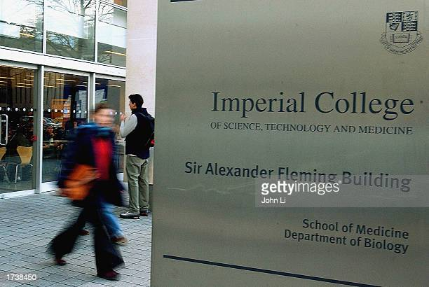 A student walks past the medical department of Imperial College London in Kensington London January 22 2003 in London The future of student fees and...