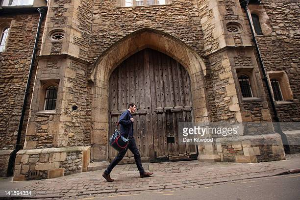 A student walks through the city centre on March 13 2012 in Cambridge England Cambridge has a student population in excess of 22000 spread over 31...