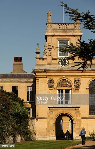 A student walks through Trinity College as Oxford University commences its academic year on October 8 2009 in Oxford England Oxford University has a...