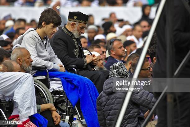 Student, who lost his father and brother during the attack, attends the first Friday Prayer after twin terror attacks targeting mosques in...