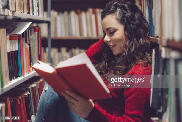 Student with her book...