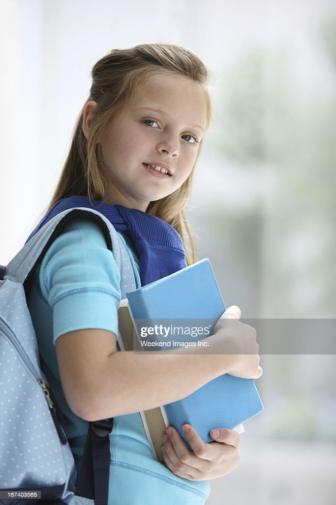 Student with textbooks : Stockfoto
