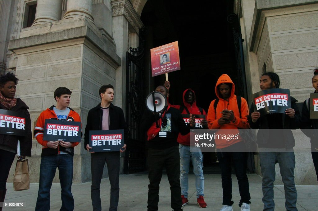 Student Walkout Rally at City Hall in Philadelphia
