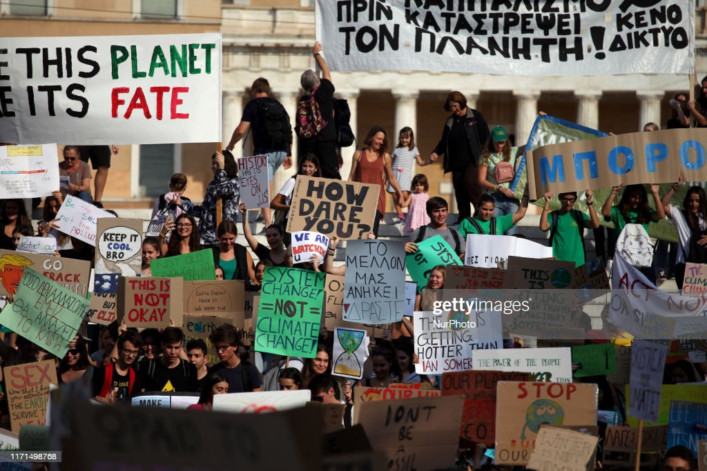 Friday For Future Climate Change Protest : News Photo
