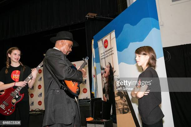 Students and Nick Colionne peform at Chicago Public School Announces Music Program Expansion With Little Kids Rock at Franklin Fine Arts Center...