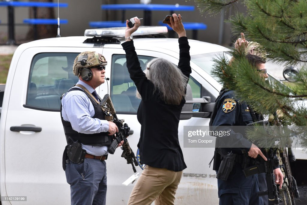 Shooting Reported At School In Highlands Ranch, Colorado : News Photo