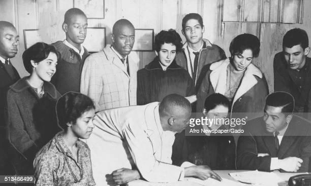 Students Angela Butler Reginald Robinson Bonnie Kilstein Clarence Logan Frank McDougald Diane Ostrofsky Donnie Fleming David Williams and Margaret...