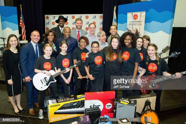 Students Anne Gray Kurt Jones LaTanya McDade Nick Colionne Evan Plummer Dick Hoffman David Wish and Sir The Baptist attend Chicago Public School...