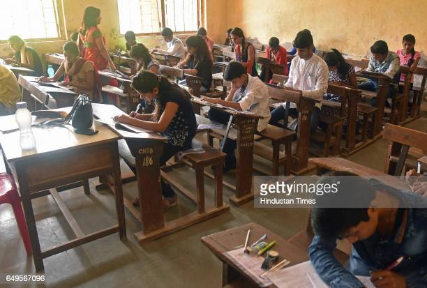 SSC students appear for exam in Goregaon on March 7 2017 in Mumbai India With over 38 lakh students in Mumbai division appearing for Secondary School...