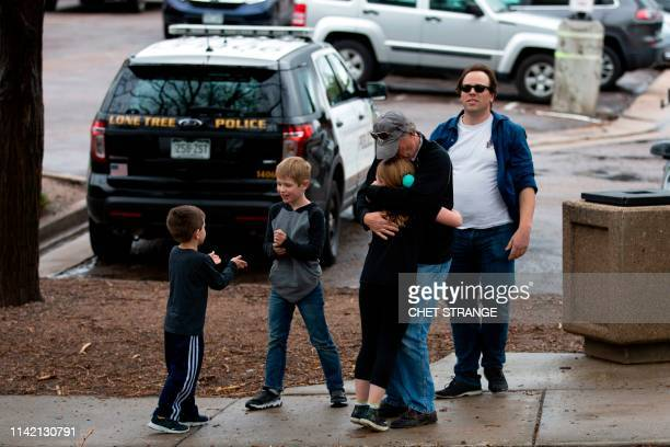 TOPSHOT Students are evacuated from the Recreation Center at Northridge in Highlands Ranch after a shooting at the STEM School Highlands Ranch on May...