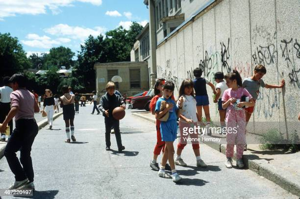 Students are photographed June 17, 1986 at an elementary school in Yonkers, New York. In 1980 the Justice Department and the Yonkers branch of the...