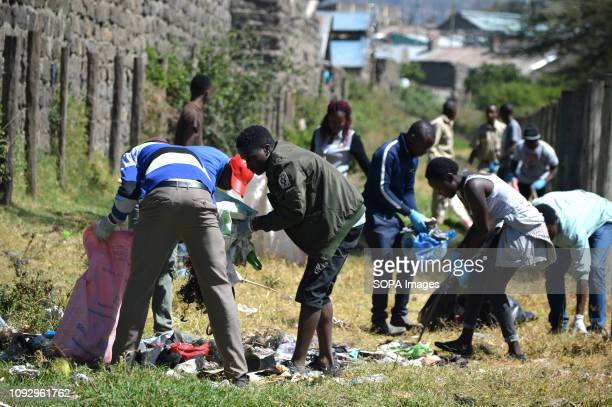 PARK NAKURU RIFTVALLEY KENYA Students are seen conducting a cleanup exercise during this year's World Wetlands Day in Lake Nakuru National parkThe...