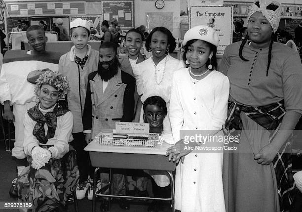 Students at Baltimore Langston Hughes Elementary School, Baltimore, Maryland, 1995.