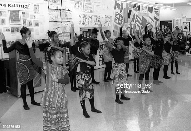 Students at Baltimore Langston Hughes Elementary School Baltimore Maryland 1995