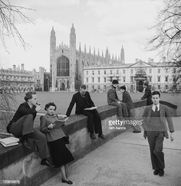 Students at Cambridge University Cambridge circa 1949