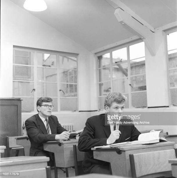 Students at Colfe's Grammar School in Blackheath London 21st October 1960