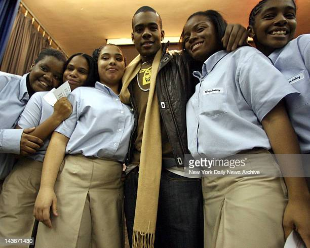 Students at Harlem Village Academy Charter School celebrate their high scores on last spring's seventhgrade math test RB crooner Marion turned up