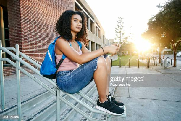 students at high school - high school building stock pictures, royalty-free photos & images